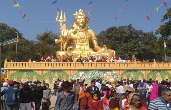 Opening Ceremony of unveiling of 72 feet high Lord Shiva Statue at Sankhai Lashio