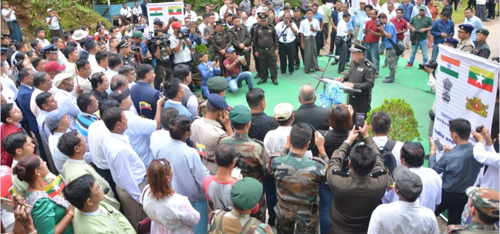 Opening Ceremony of Land Border Between India and Myanmar on 8th August 2018