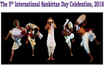 5th International Sankirtan Day Celebration 2018 at National Theatre Mandalay on 17th December 2018.