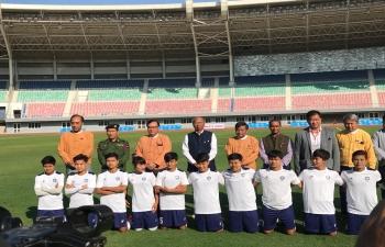 Myanmar India Friendly Women Football Match between Mandalay & Manipur Team at Mandalar Thiri Stadium, Mandalay