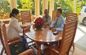 Consul General meeting H.E. Daw Hmway Hmway Khin, Regional Minister for Shan Ethnic Affairs, Sagaing Region in Monywa  3rd February 2019