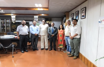Consul General meeting with Hon. Shri Jarnail Singh, Vice Chancellor, Manipur University in his office , Discussed about cooperation with Universities in Mandalay and Sagaing Region of Myanmar, MoU, inviting the academicians  to Imphal including Rectors, faculty and students.
