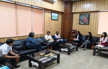Consul General meeting with Air KBZ, Myanmar Airways Inernational, Airport Authority of India, Imphal and operator from Manipur at Imphal Airport. Discussion about  modalities, proposals, route, incentives,approvals from Govts for Mandalay- Imphal flight took place.