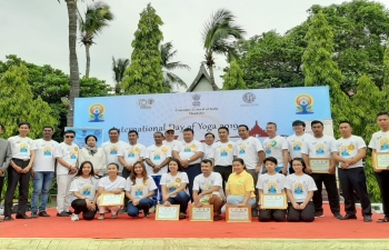 Celebration of 5th International Day of Yoga 2019 on 22nd June 2019 in Mandalay