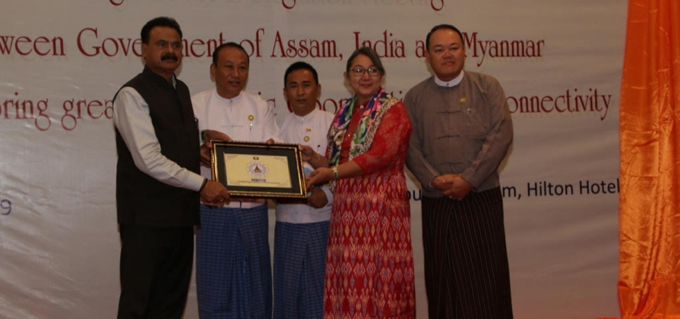High Level Meeting between Government of Assam and Myanmar for exploring greater Economic Cooperation and Connectivity in Hotel Hilton Mandalay on 2 July 2019