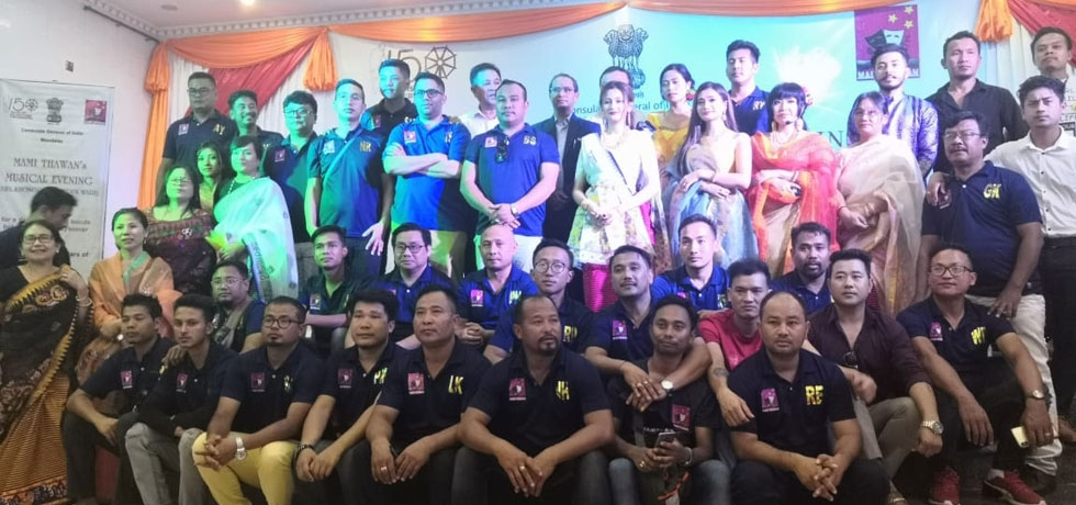 Mami Thawan's Musical Evening at Mandalay by visiting 54 member Delegation from Film Industry, Manipur