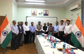 Ambassador Shri Saurabh Kumar met with the representatives of Indian companies and PIOs doing business, based in Mandalay Region in the Consulate