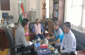 CG meeting with Hon. U Myint Naing Oo, Regional Member of Parliament for Tamu Township, Sagaing Region, in the Consulate.