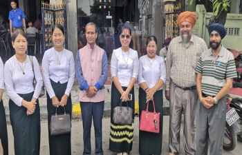 CG inaugurating a Business Establishment in Mandalay, owned by an Indian origin entrepreneur dealing with promotion of tourism and travel agency.