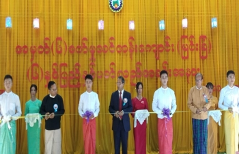 Opening Ceremony of 6th Anniversary of Industrial Training Centre, Directorate of Industrial Collaboration. Ministry of Industry, Myingyan. Set up under India Myanmar Friendship Project, providing best quality vocational and skill training to Myanmar youth leading to industrial development of  Myanmar.