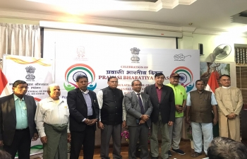 Celebration of Pravasi Bhartiya Divas 2020 in the Consulate attended by Persons of Indian Origin in Mandalay and other parts of Upper Myanmar, NRIs and people from Manipur and other parts of India.