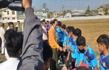 Friendly Football Match between Manipur Team and Mandalay Region Team played on 30th January, 2020 at Pyin Oo Lwin. Friendly Match won by Mandalay Team by 4-0.