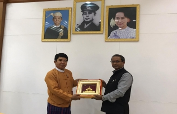 CG paying a farewell courtesy call on the Acting Chief Minister and  other 7 Ministers, Attorney General & Secretary . Each one of them spoke highly about the relationship with Mandalay Region Government as well as people of Myanmar and innumerable events in culture, business, education etc.