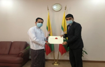 Consul General Neeraj Kumar, CGI Mandalay called on H.E. U Min Thein, DG Protocol, Ministry of Foreign Affairs, GoM to share his credentials and discussed the warm & cordial India-Myanmar relations and ways to further strengthen it.