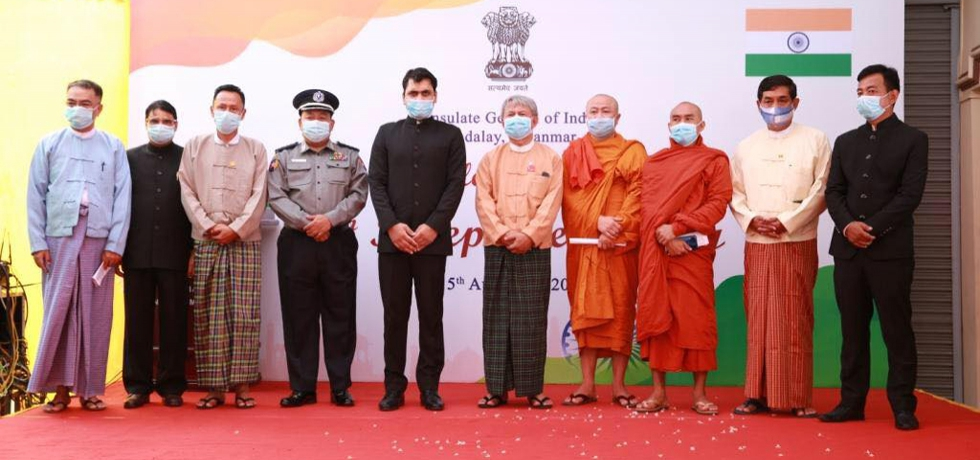 72nd Republic Day of India on 26th January, 2021 at CGI, Mandalay